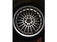 "Original 17"" BMW alloys with tyres"