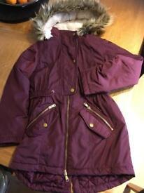 Girls purple coat 10-11