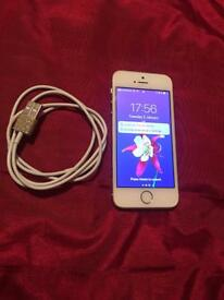 I phone 5s Gold 16gb Vodafone and libara