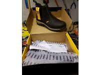 DeWalt Radial Safety Boots Steel Toe Slip On BRAND NEW