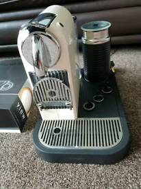 Nespresso Coffee machine with everything
