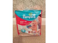 BNIB Pampers Easy Up, size 5, 20 pack