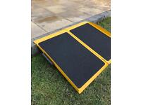 2ft Suitcase Ramp - aluminium construction, portable and designed for one step