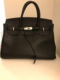 Hermes Style Black Bag