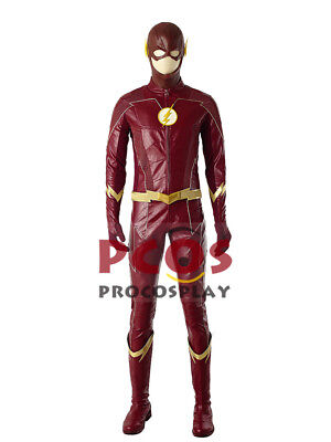 The Flash Season 4 Barry Allen Cosplay Costume & Boots mp003915 (Cheap Costume Boots)