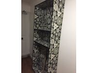IKEAs black and white patterned billy bookcase