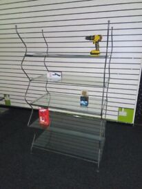 Wrought Iron and Toughened Glass Retail Display Stands