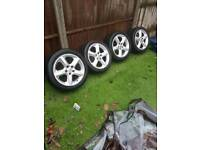17 inch vauxhall alloy wheels and tyres