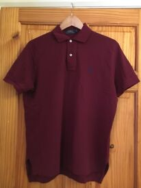 Polo Ralph Lauren Burgundy Polo Shirt S