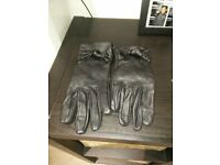 Women's Leather Gloves (black) - hardly used