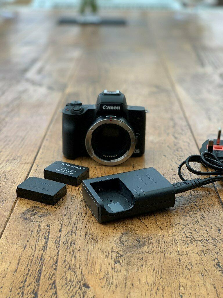 Canon M50 with Canon EF-M lens adapter and 3 batteries - Mint condition  £375 | in Stirling | Gumtree