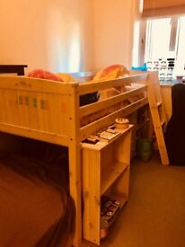 Children's single high sleeper bed. Great condition!