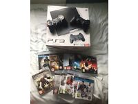 PlayStation 3 120GB with 12 games and 2 Controllers