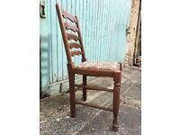 4 x Solid Wood Ladder-Back Chairs