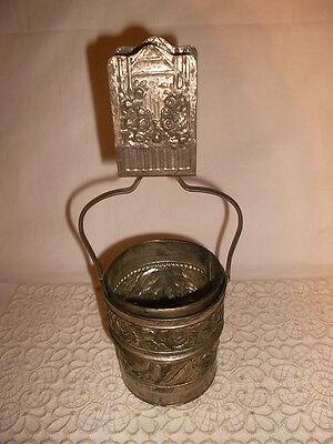 Alter Streichholzschachtel Halter aus Metall Streichholzhalter 1950/60
