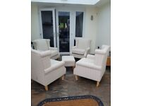 5 peace chair and pouffe