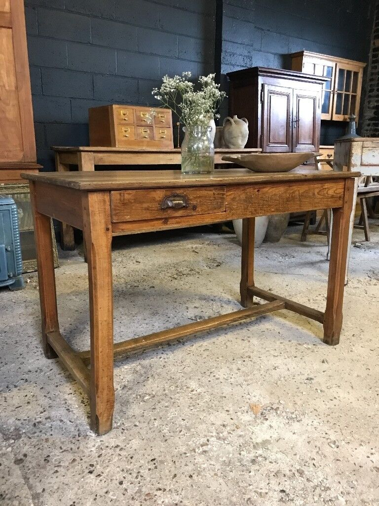 Antique French French Refectory Country Farmhouse Kitchen Dining Table