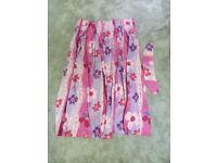Pretty pink flower pinch pleat curtains