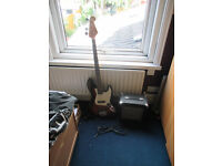 SX Vintage Jazz Bass with SX Amp