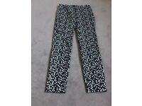 Zara patterned trousers size XS.