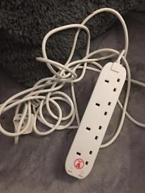 5m extension lead surge protected