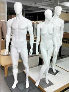 JUSTE D'ARRIVER - MANNEQUINS - HOMMES ET DAMES - COMPLET AVEC TETE / WITH HEAD - MALE AND FEMALE - FULL MANNEQUIN