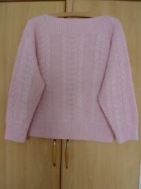 Ladies hand knitted jumper. (Used)
