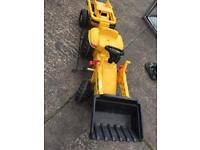 rolly kid Catapiller tractor& trailer pedal ride on