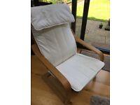 Ikea poang chair cream