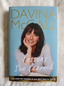 NEW SIGNED DAVINA MCCALL'S BIOGRAPHY 'LESSONS I'VE LEARNED'