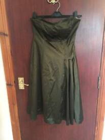 Olive coloured dress coast size 10