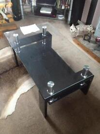 glass coffee table. New
