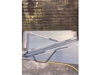 7 triangular polycarbonate sheets