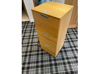 3 drawer Ikea GALANT filing cabinet, oak colour