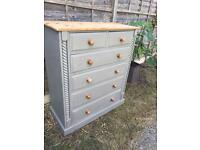 Refurbished Large Solid Pine Chest of Drawers (Can Deliver)