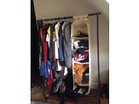 Ikea clothes rail with shoe rack.