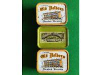 3 old tins