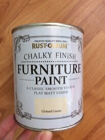 Rust oleum chalk paint two tins
