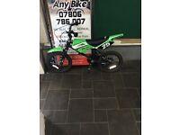 """MXR Kids bike Green/Black 10"""" Inch"""