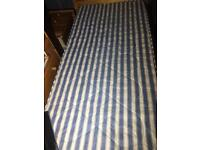 Solid pine single bed with spotless clean mattress