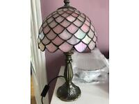 Two Tiffany style lamps.