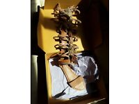 Gladiator Tassel Zip up Sandals Size 4 Brand new with box