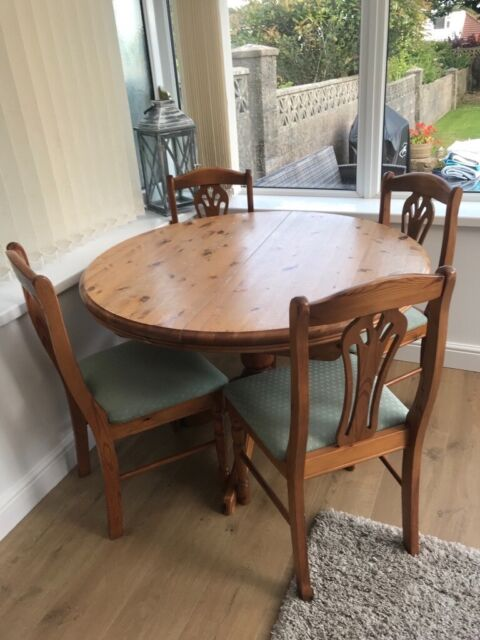 Enjoyable Cornell Harvest Dining Table And 4 Chairs In Swansea Gumtree Machost Co Dining Chair Design Ideas Machostcouk