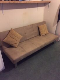Faux Suede sofa bed hardly used