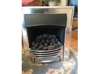 Feature Chrome Gas Fire for sale, bought for house project but not used, good condition.