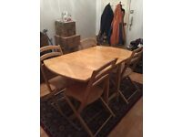 4 folding chair and table dining set
