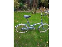 "Retro triumph fold away bike 20"" wheels"