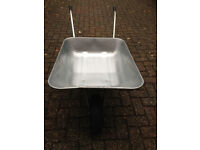 New Galvanised steel wheelbarrow with pnuematic tyre