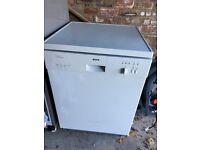 Full size white Bosch dishwasher