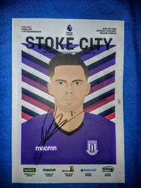 Jack Butland Signed Stoke City Programme